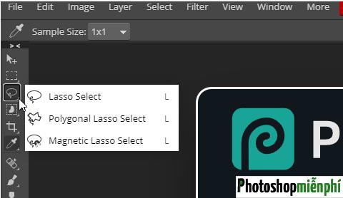 Phím tắt trong Photoshop online